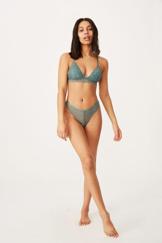 Summer Lace Bralette, BONSAI GREEN