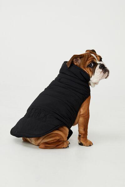 Personalised Body Buddy Mother Puppa Jacket, BLACK