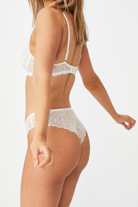 Summer Lace Brasiliano Brief, CREAM