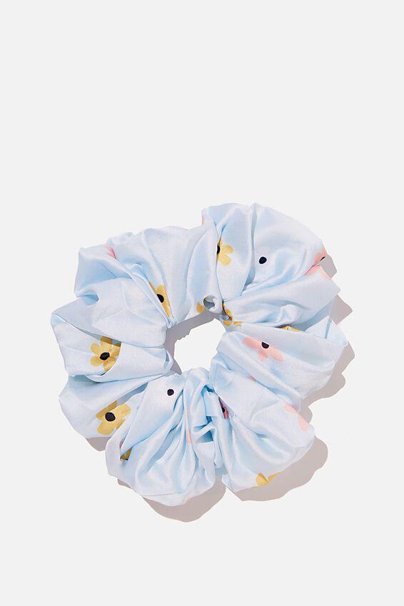Super Luxe Scrunchie, SKYLIGHT BLUE DITSY