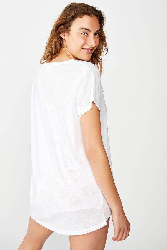 Dreamy Sleep T-Shirt, FRESHLY SQUEEZED/WHITE
