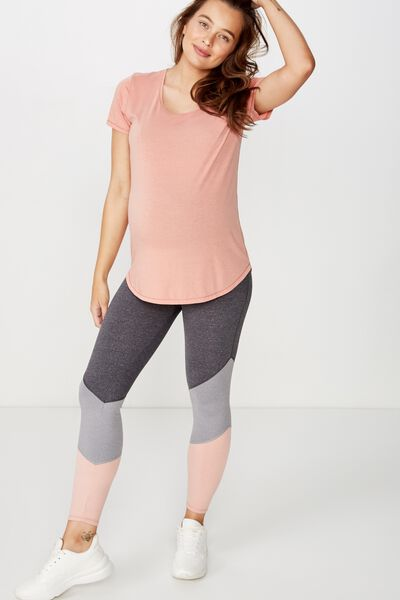 Maternity So Soft Marle 7/8 Tight, MID GREY MARLE