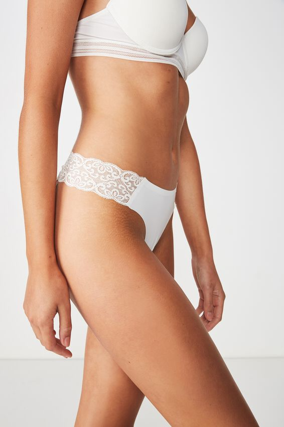 Party Pants Seamless G-String Brief, CREAM