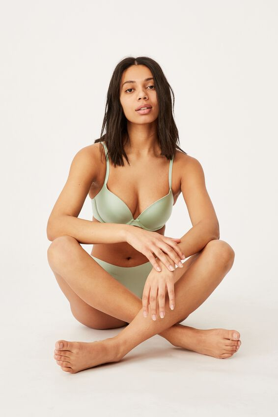 Ultimate Comfort Push Up Bra, MINT CHIP