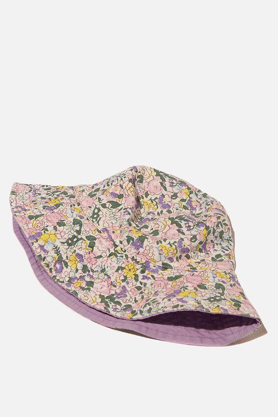 Bonnie Reversible Bucket Hat, GARDEN DITSY