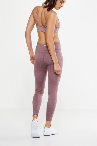 Fleece Lined Tight, THISTLE MAUVE MARLE