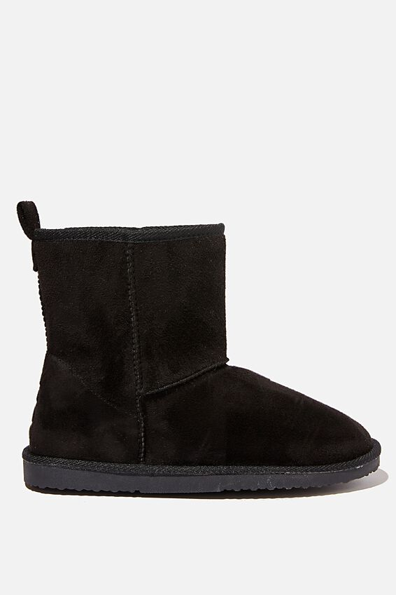 Hallie Short Home Boot, BLACK