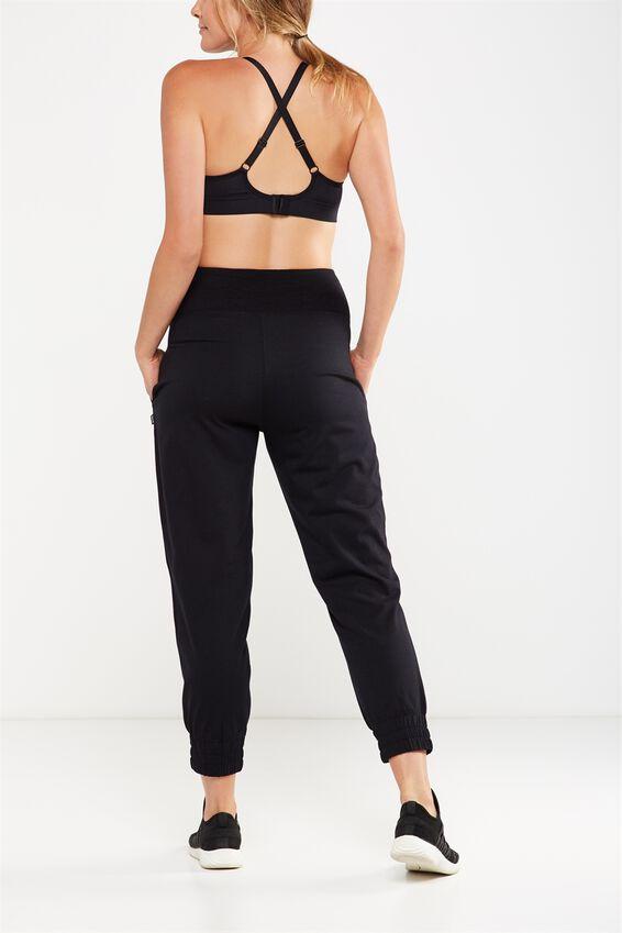 Maternity Lightweight Track Pant, BLACK
