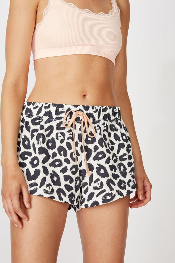 Jersey Bed Short, TWO TONE LEO MONO