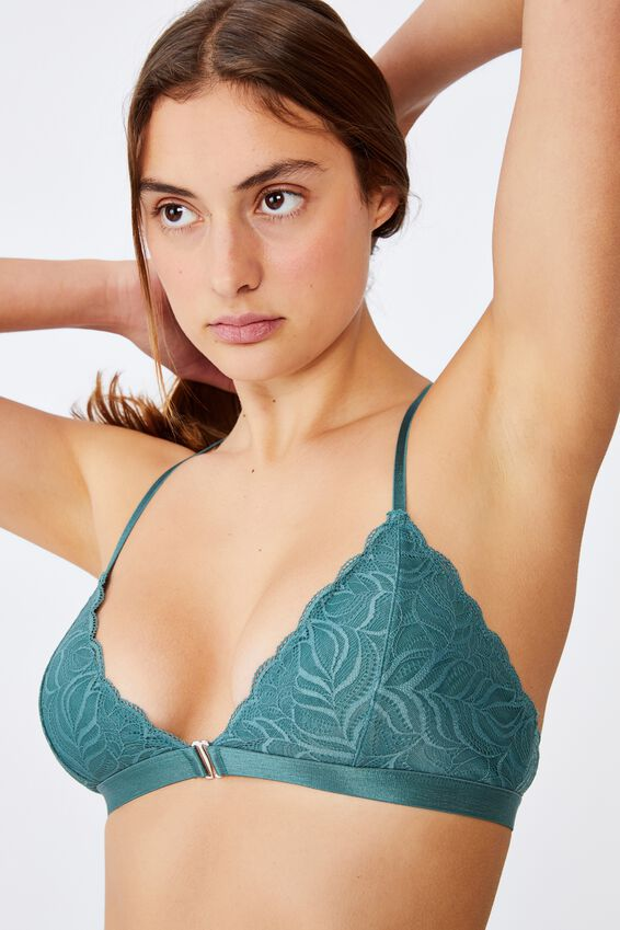 Summer Lace Wirefree Bra, BONSAI GREEN