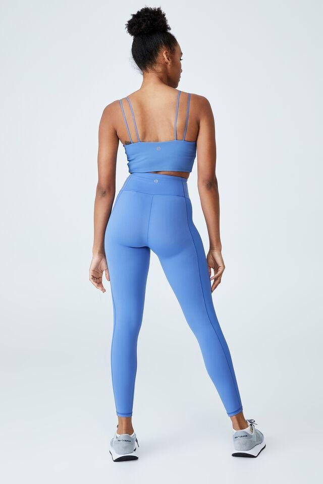Highwaisted Yoga Full Length Tight, ANTIQUE BLUE