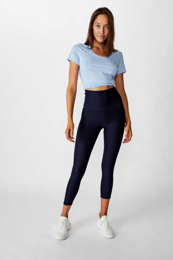 Reversible 7/8 Tight, DITSY TEXTURE OMBRE/NAVY