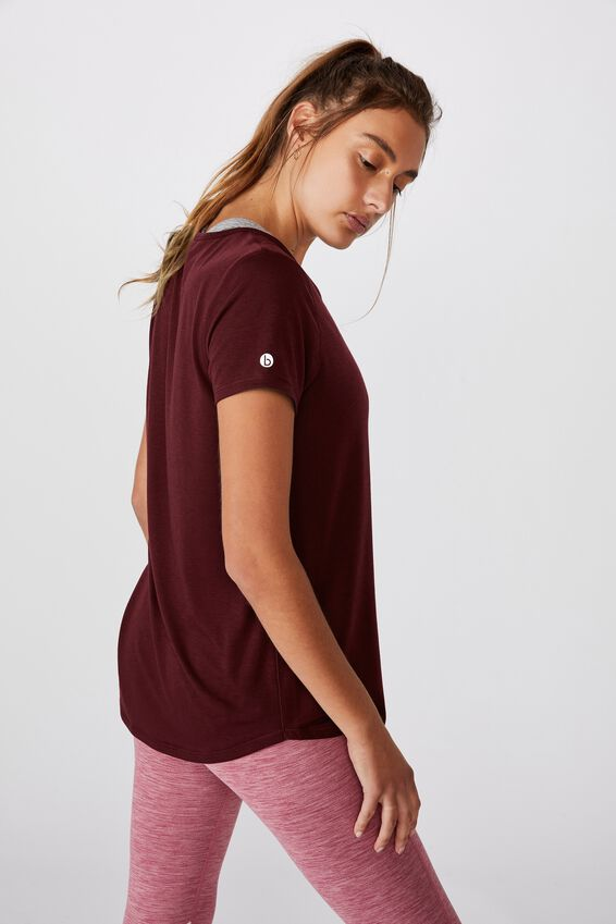 Maternity Gym T Shirt, MULBERRY