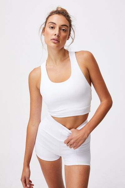 Lifestyle Loop Cross Back Vestlette, WHITE