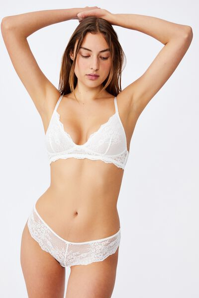 Zoe Unlined Wirefree Bra, CREAM
