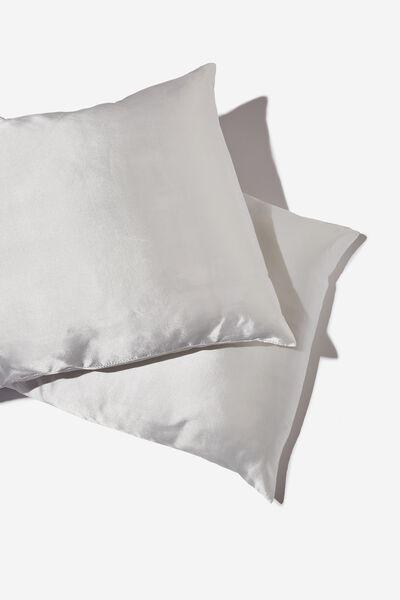 Satin Pillow Slip Duo, GARDENIA