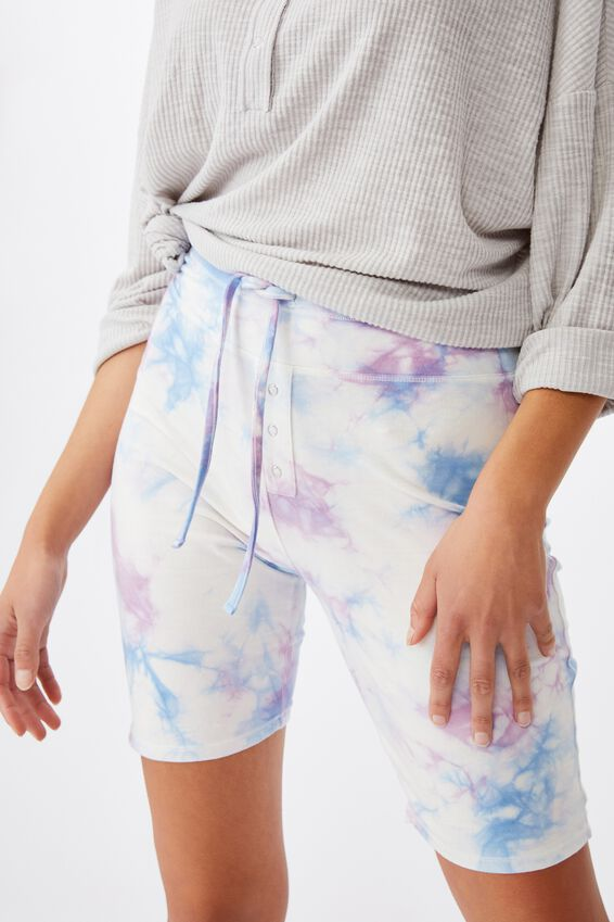 Jersey Bed Bike Short, SOFT LILAC TIE-DYE