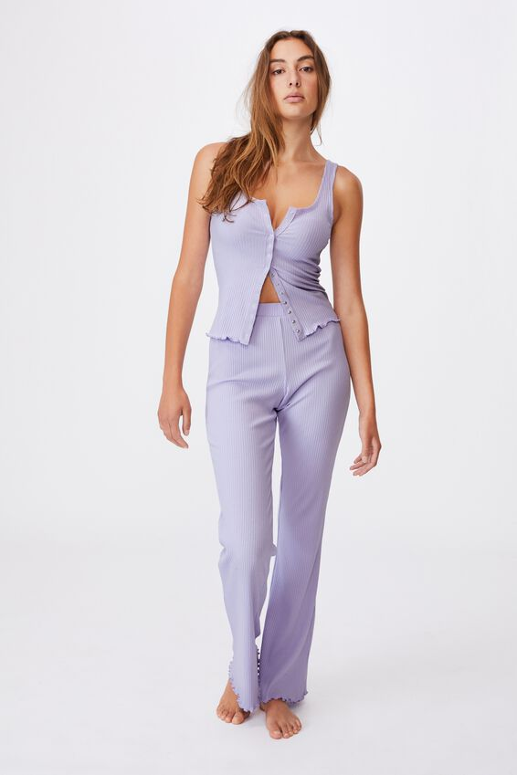 Button Down Bed Top, CHALKY LAVENDER