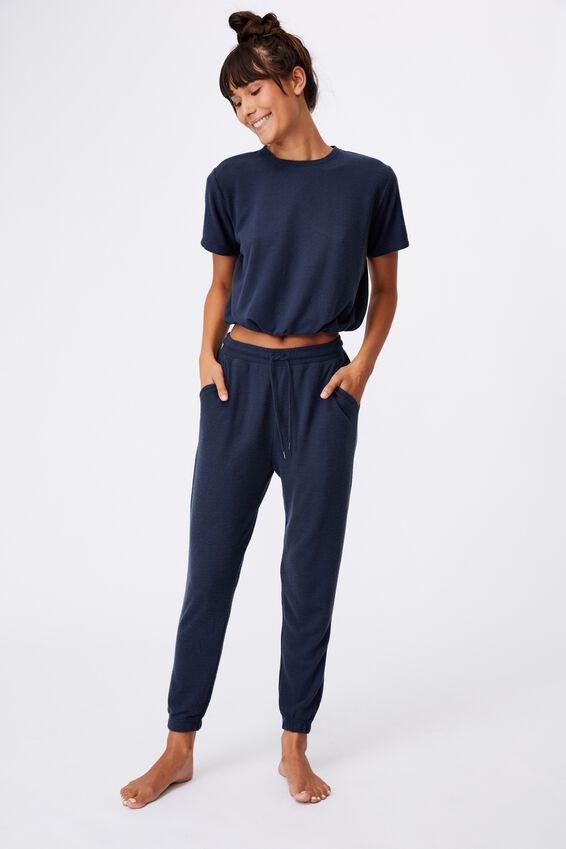 Super Soft Slim Cuff Pant, MAGNET BLUE