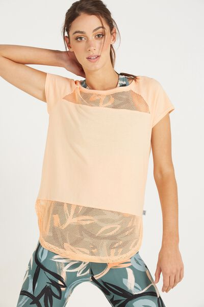 Mesh It T Shirt, PAPAYA
