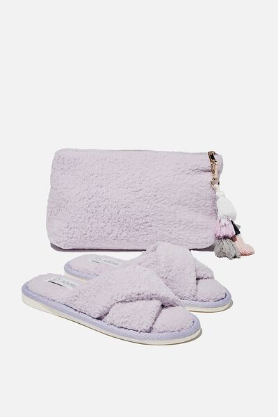 Solitude Slipper Set, FAIR ORCHID