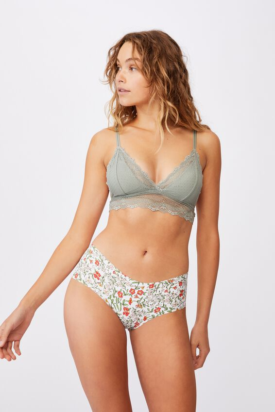 The Invisible Boyleg Brief, GARDEN FLORAL BUTTERMILK