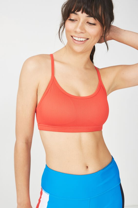 Workout Yoga Crop, PAPRIKA RED RIB