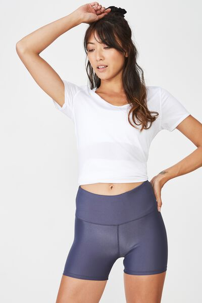 Highwaisted Gym Short, SHIMMER SHADOW