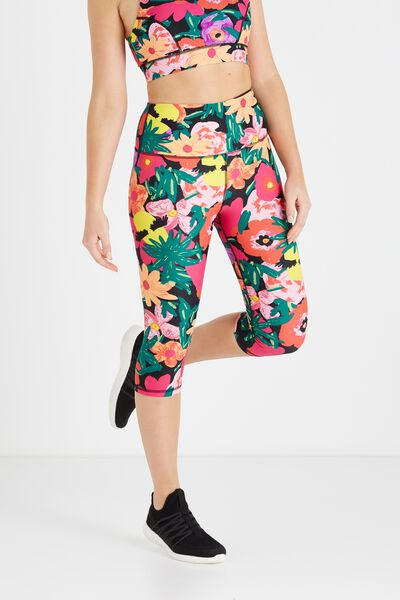 High Waist Yoga Capri, BBH TROPICAL LASHES