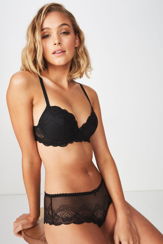 Cindy Contour Bra, BLACK