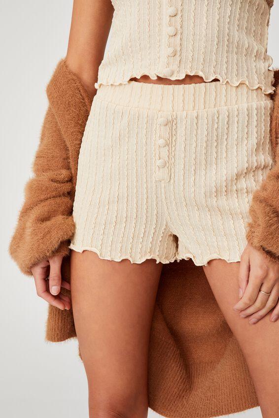 Knit Bed Short, BUTTERMILK