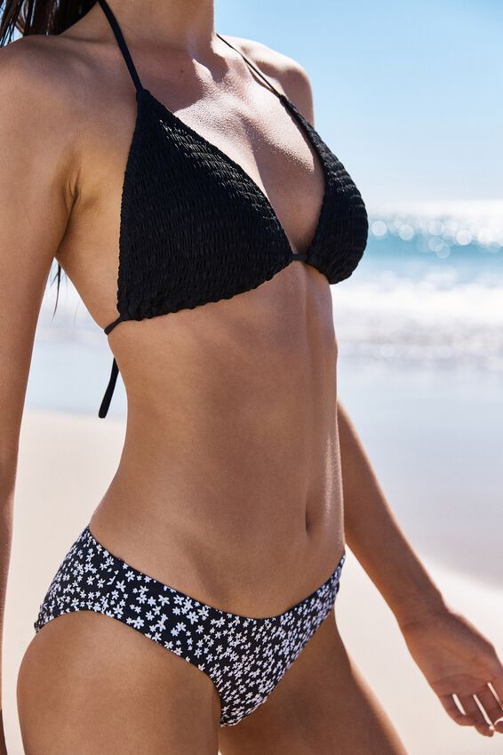 Classic Full Bikini Bottom, BLACK DITSY