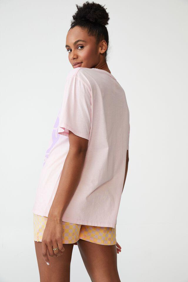 Jersey Relaxed Bed T-Shirt, LCN BR BOB MARLEY/ONE LOVE BALLERINA