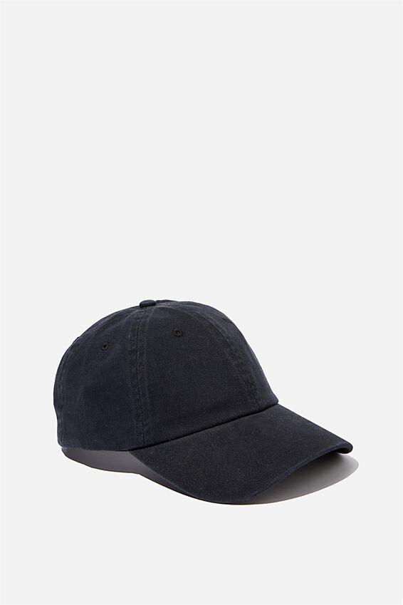Washed Cap, BLACK