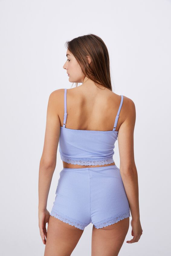 Rib Lace Sleep Cami, SOFT CORNFLOWER LILAC