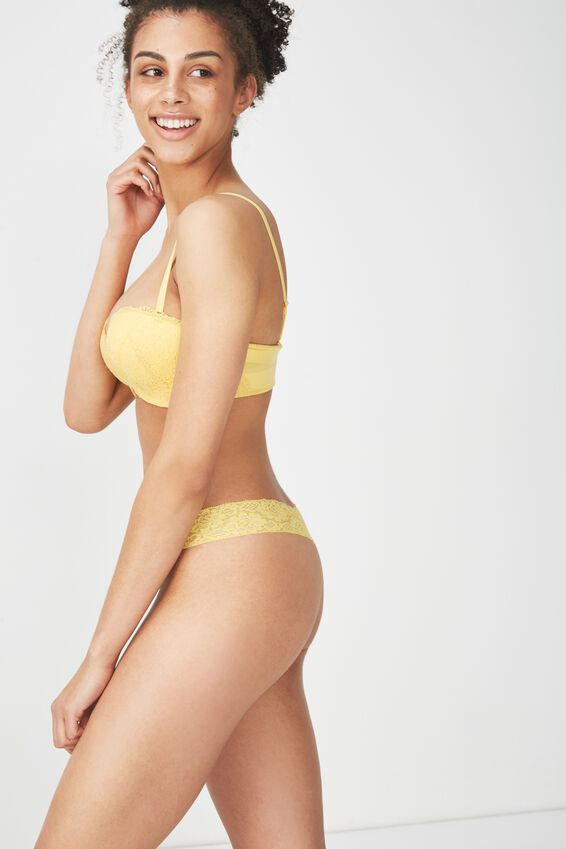 Sophia Lace G-String Brief, SUNSHINE YELLOW