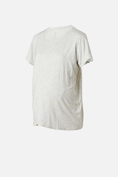 Sleep Recovery Maternity T Shirt, SOFT GREY MARLE