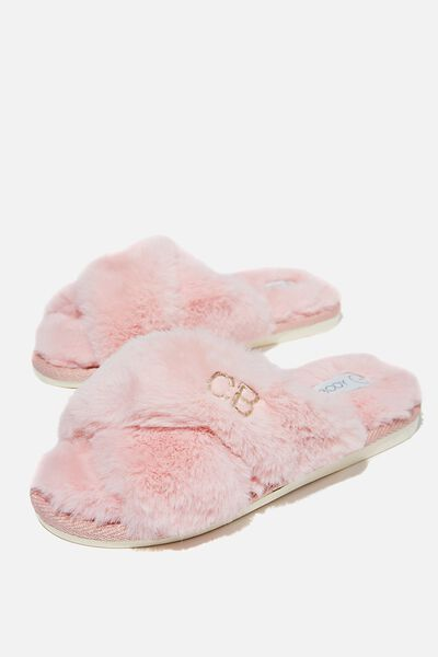 Personalised Duo Crossover Slipper, BLUSH
