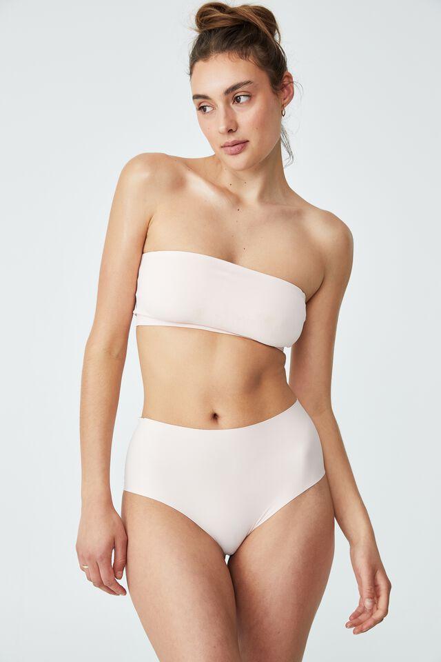 The Invisible High Cut Bikini Brief, MARSHMELLOW PINK