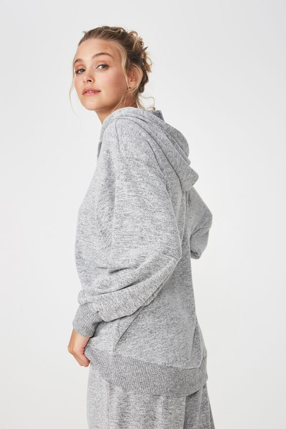 Supersoft Statement Hoodie, GREY MARLE