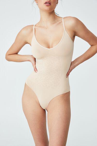 Go Figure Plunge Bodysuit, FRAPPE JACQUARD