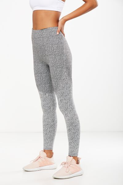 Jacquard Panelled Tight, CHARCOAL MARLE