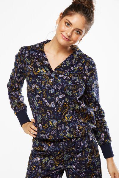 Long Sleeve Flannel Shirt, ORNATE HARVEST MIDNIGHT