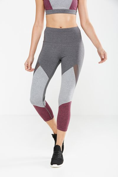 Tone Up Crop Tight, CONCRETE/WILD ROSE