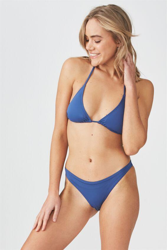Seamless Brazilian Bikini Bottom, MARINA BLUE