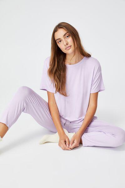 Sleep Recovery Crew T-Shirt, PASTEL LILAC