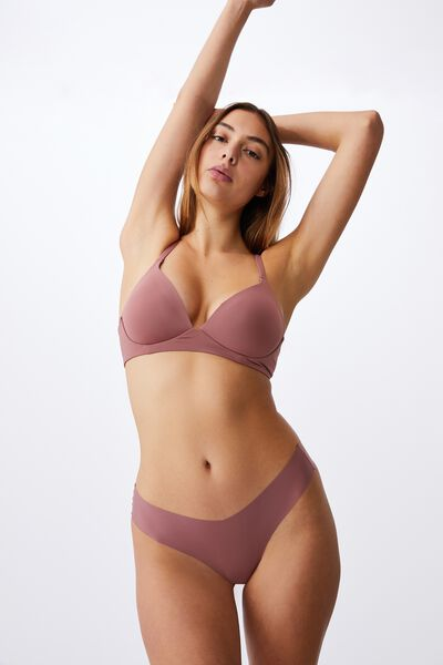 Wirefree Everyday T-Shirt Bra, DUSTY ROSE