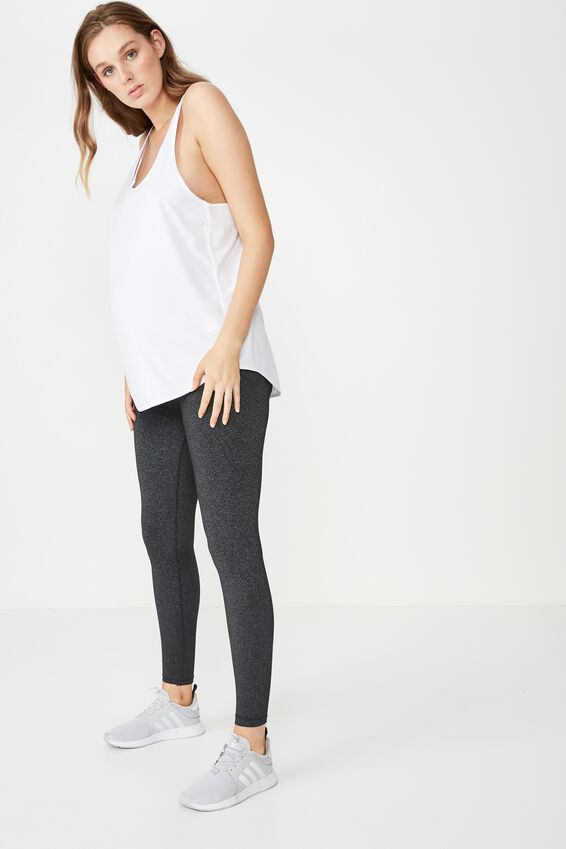 Maternity Core Tight Over Belly, CHARCOAL MARLE