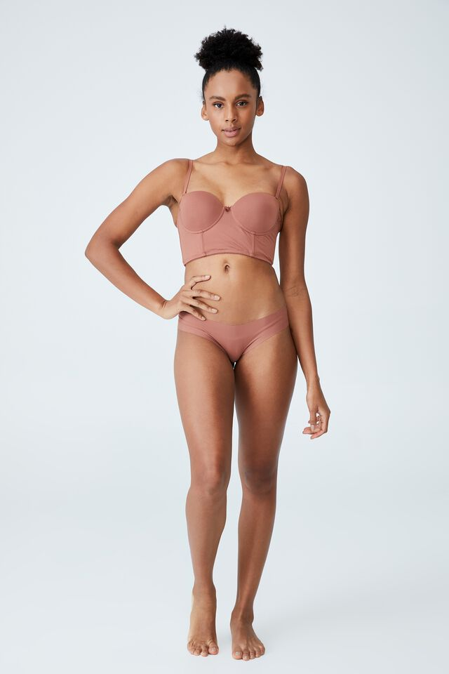 Ultimate Comfort Push Up Bustier, CAPPUCCINO
