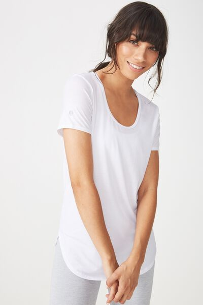 Gym T Shirt, WHITE